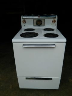 GE General Electric Electric Stove 1950s Narrow GE Range Stove