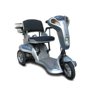 ev rider gusto silver 3 wheel electric power mobility scooter sleek
