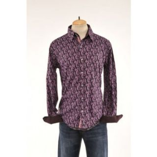 Mens ENGLISH LAUNDRY SCOTT WEILAND Purple Black Woven Shirt Size XXL