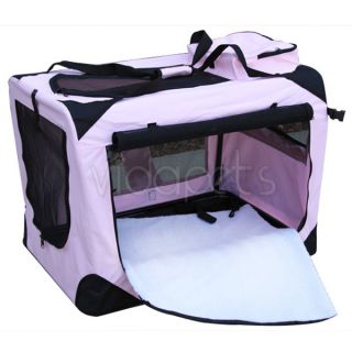 32 Pink Soft Dog Crate Cage Kennel Carrier House