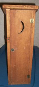 Bathroom Decor Wooden Outhouse Toilet Paper Holder