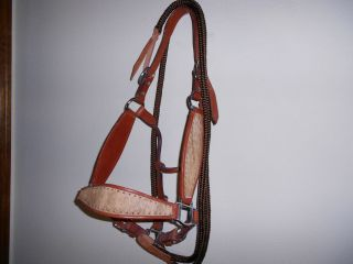 Bronc Rodeo Show Horse Halter and Lead Rope