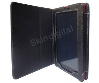 For Kobo Vox Tablet eReader Black GENUINE LEATHER Case Cover
