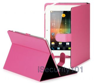New Pink Protective Leather Stand Cover Case for 8 inch Android