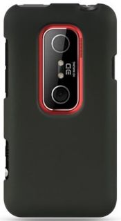 NEW RUBBERIZED BLACK HARD CASE COVER FOR SPRINT HTC EVO 3D PHONE