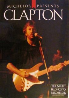 Eric Clapton 1987 Michelob Presents E C Promotional Poster