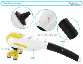 WHM 3 Personal Hand held Electronic MASSAGER / Neck Back Full Body
