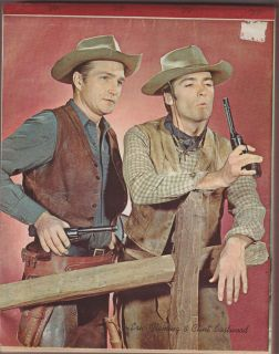 VINTAGE Clint Eastwood, Eric Fleming from Rawhide NOTEBOOK ephemera