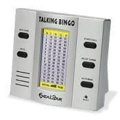 Excalibur Electronics Talking Speaking Bingo Silver Hand Held Game