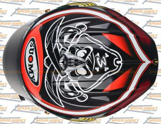 suomy excel biaggi pirate full face helmet large retail value 599 95