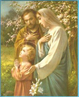 Catholic Print Picture Holy Family Jesus Mary St Joseph