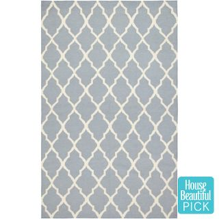 Rizzy Home Swing Hand Woven Dhurrie Rug Blue   2 6 x 8