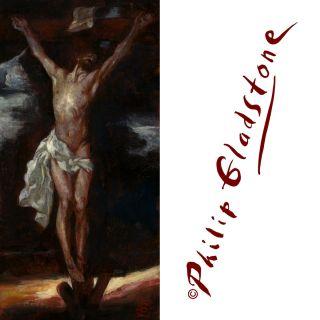 PHILIP GLADSTONE FINE ART Signed ed LIMITED ED PRINT Jesus Christ