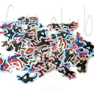 100x Spiderman Symbiote Envelope Seals Glitter Stickers