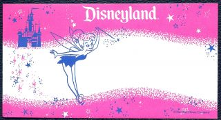 Disney Dollar Pink Envelope Mint