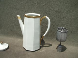 Mid Century Modern Ernest Sohn Electric Percolator & 3 Pedestal Coffee
