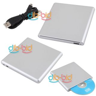 USB 2.0 External Slim Slot in DVD CD Drive Burner CDRW w/ Button for