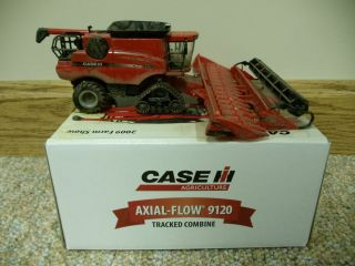 64 Ertl Case IH 9120 Tracked Custom Dusty Combine Farm Toy