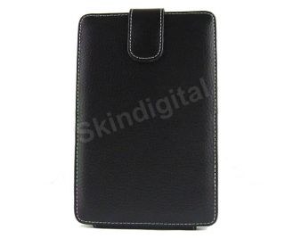 For Kobo WiFi eReader Black Genuine Leather Case Cover Flip