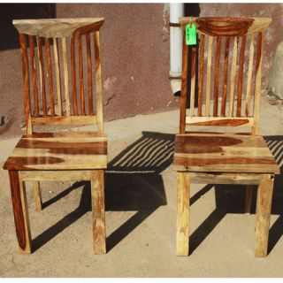 Mission Solid Wood Dining Room Ergonomic Chair Set of 2 for Big People