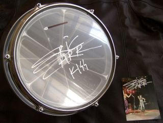 KISS Eric Carr signed 12 Animalize stage used roto tom drum & signed