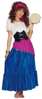 Gypsy Fancy Dress Ladies Costume Romany Esmeralda s M