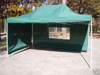 Green 10x15 EZ Pop Up 4 Wall Canopy Party Tent Gazebo