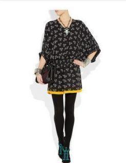Auth 2012 $445 Diane Von Furstenberg Meiko Band Silk Dolman Sleeve