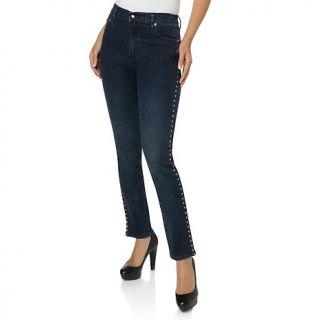 114 902 diane gilman dg2 side studded skinny stretch denim jeans