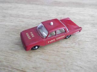 macthbox lesney ford fairland fire chiefs car #59