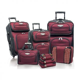 traveler s choice amsterdam ii 8 pc luggage set in grey rating 1 $ 123