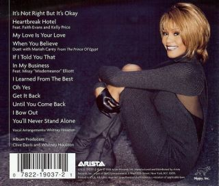 Whitney Houston My Love Is Your Love New CD Mariah Carey Sheila E