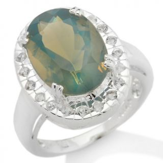 127 528 4 93ct blue ash opal and white topaz sterling silver oval ring