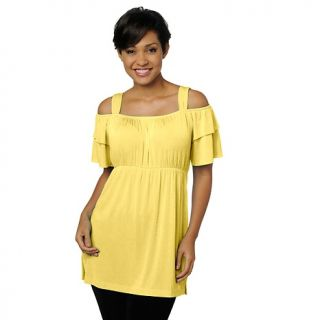 131 098 slinky brand slinky brand off the shoulder empire waist tunic