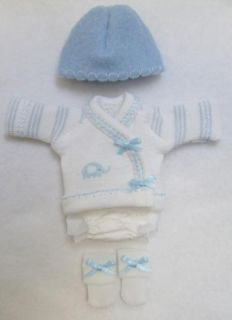 Ellery Kish OOAK Baby Doll 4 pc. Diaper Shirt Clothes Outfit 5 6