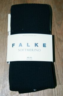 Luxury Falke Soft Merino Wool Cotton Ribbed Knitted Tights Pantyhose