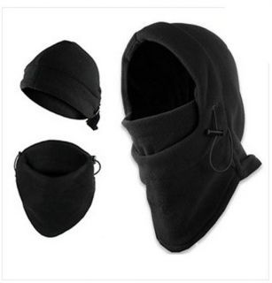 Black 3in1 Warm Full Face Cover Winter Ski Mask Beanie Police SWAT Ski