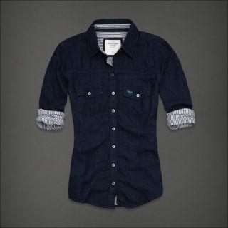 Abercrombie Fitch Womens Fallon Button Down Classic Shirt Size Medium