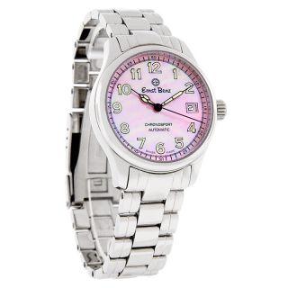 Ernst Benz Chronosport 36mm Pink Mop Dial Swiss Automatic Watch 30233B