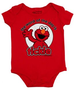 Sesame Street Elmo Word of The Day Cartoon Baby Creeper Romper