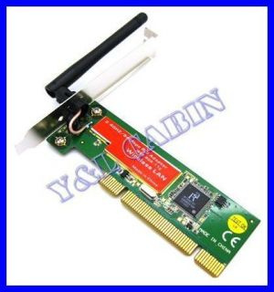 PCI Wireless LAN Network Ethernet Card Adapter WiFi 802 11g B 54Mbps