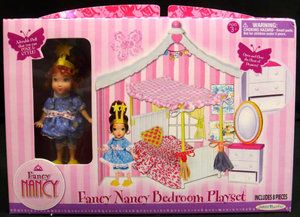 Fancy Nancy Doll Mini Bedroom Playset Dollhouse Furniture Set New