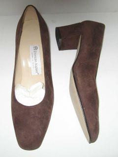 Etienne Aigner Womens Brown Suede Heels 8 1 2M