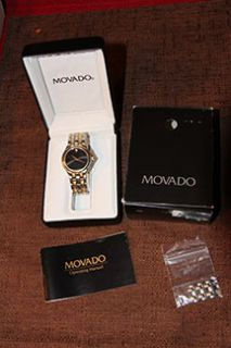 Mens Movado Stainless Steel Two Tone Watch