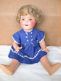 Vintage Composition 18 E G Miss Charming Doll w Teeth Shirley Temple