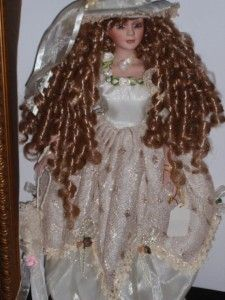 Gorgeous 16Tall Eunice Ashley Belle Doll Shadow Box Gold Framed