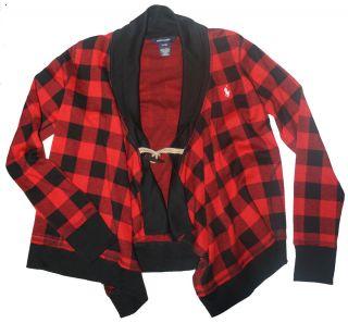 Ralph Lauren Girls Faron Shawl Toggle Button Cardigan Sweater