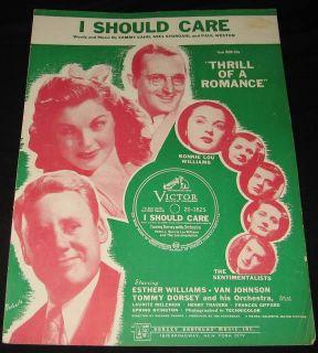 Esther Williams Van Johnson 1944 Dorsey Music Sheet