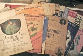 Vintage Sheet Music 20+ Songs/Piano Scores,1900 1940s Ellington,Berlin