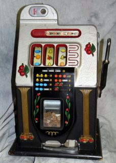 Antique 1946 Mills Golden Falls 1 cent Penny Slot Machine Casino